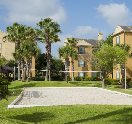 Volleyball Court at Camden Breakers Apartments in Corpus Christi, Texas