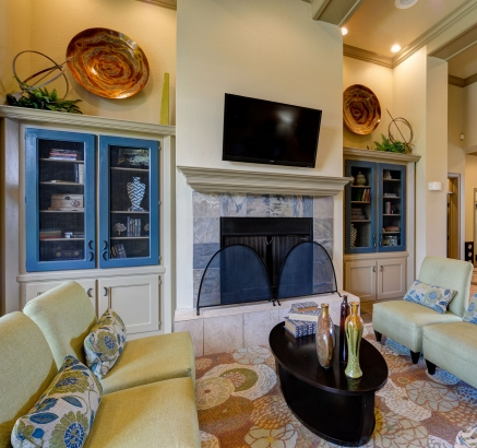 Clubroom at Camden Buckingham Apartments in Richardson, Texas