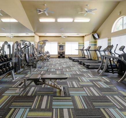 Fitness Center at Camden Buckingham Apartments in Richardson, Texas