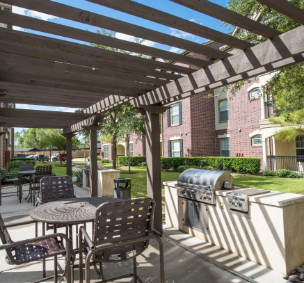 Grill Stations at Camden Cypress Creek Apartments in Houston Texas