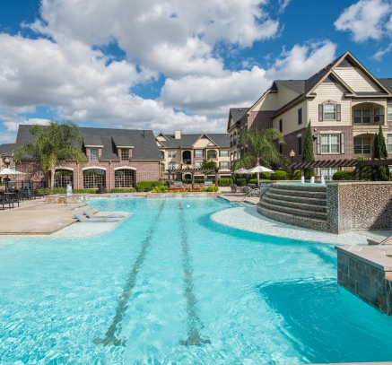 Pool at Camden Cypress Creek Apartments in Houston Texas