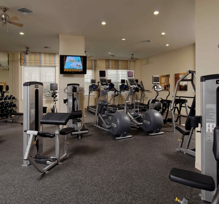 Fitness Center at Camden Dulles Station Apartments in Herndon, Virginia