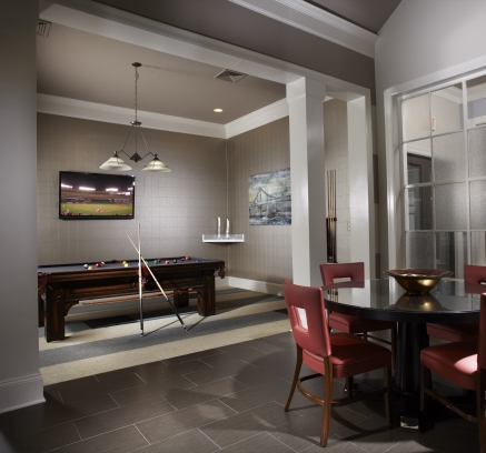 Billiard Lounge at Camden Fallsgrove Apartments in Rockville, Maryland