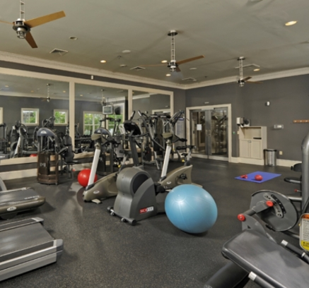 Fitness Center at Camden Fallsgrove Apartments in Rockville, Maryland