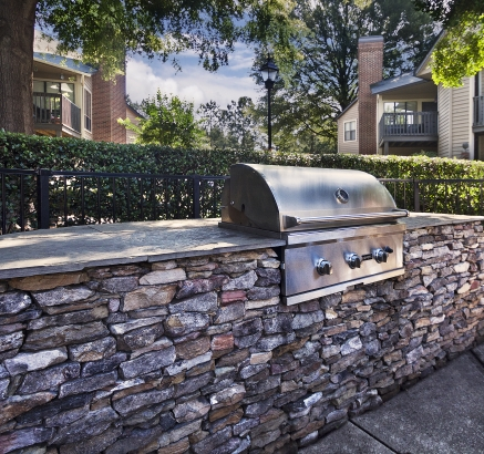 Grill Area at Camden Foxcroft II Apartments in Charlotte, North Carolina