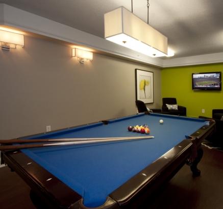 Billiards Lounge at Camden Grandview in Charlotte NC