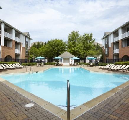 Pool at Camden Largo Town Center Apartments in Washington, D.C.