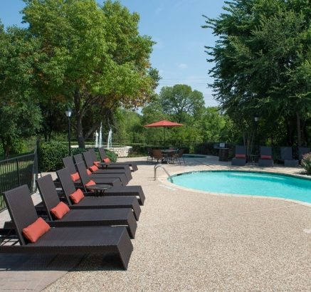Pool at Camden Legacy Creek Apartments in Plano, Texas
