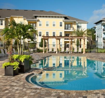 Pool at Camden Montague Apartments in Tampa, Florida