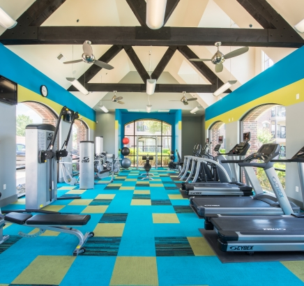 Fitness Center at Camden Panther Creek Apartments in Frisco, Texas