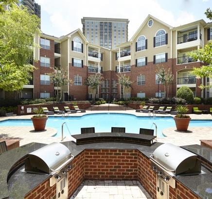 Outdoor Grill Pavilion Camden Phipps Apartments Atlanta, Georgia