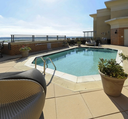 Rooftop Pool at Camden Potomac Yard Apartments in Arlington Virginia near Washington DC