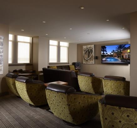 Theater Viewing Room at Camden Potomac Yard Apartments