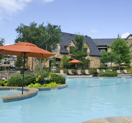 Pool at Camden Riverwalk Apartments in Grapevine, Texas