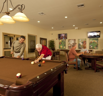 Game Room at Camden Royal Oaks Apartments in Houston, Texas