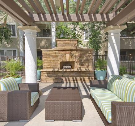 Camden San Marcos apartments lounge area in Scottsdale, Arizona.
