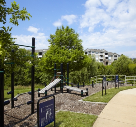 Outdoor Fitness Station at Camden Silo Creek Apartments in Ashburn, Virginia