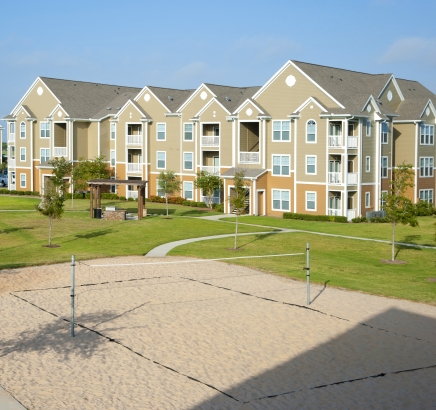 Volleyball Court at Camden South Bay Apartments in Corpus Christi, Texas