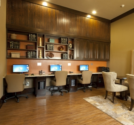 Business Center at Camden Spring Creek Apartments in Spring Texas