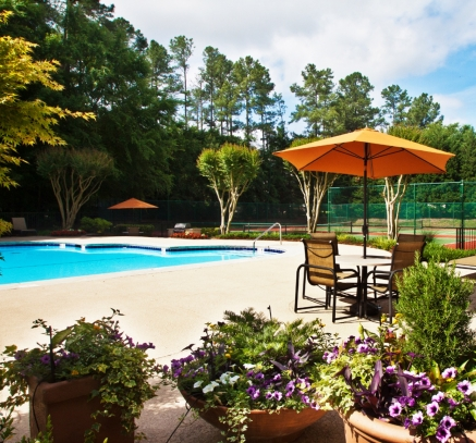 Pool at Camden Touchstone Apartments in Charlotte, North Carolina