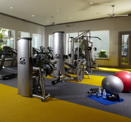 Fitness Center at Camden Town Square Apartments in Kissimmee, Florida