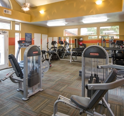 Fitness Center at Camden Valley Park Apartments in Irving, Texas