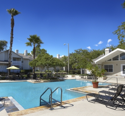 Pool at Camden Woods Apartments in Tampa, Florida