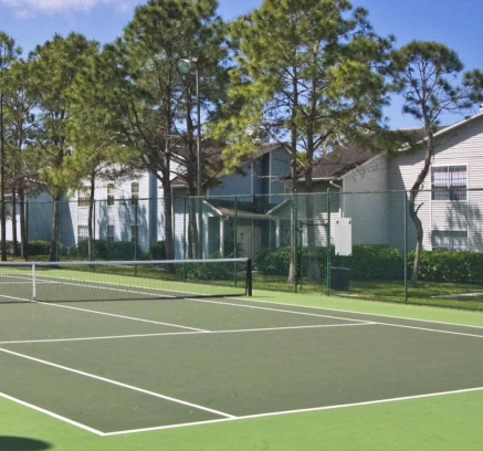 Tennis Courts at Camden Woods Apartments in Tampa, Florida