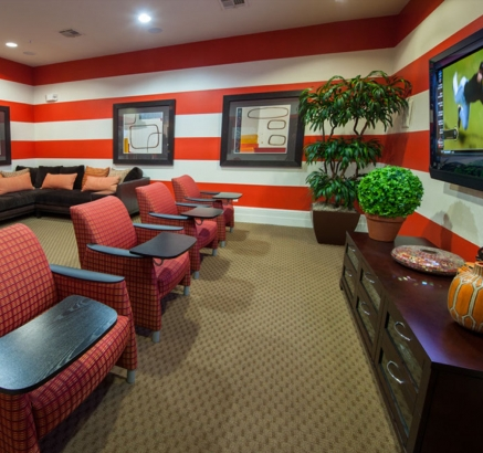 Media Room at Camden Woodson Park Apartments in Houston, Texas