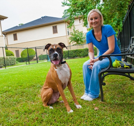Pet Park at Camden Woodson Park Apartments in Houston, Texas