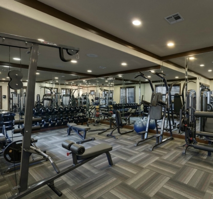 Fitness Center at Camden Yorktown Apartments in Houston, Texas